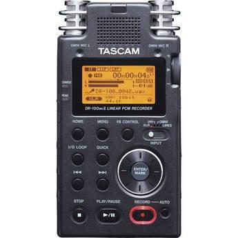 TASCAM DR-100MKII ruční rekordér, 4 mikrofony, MP3 a WAV podpora, XLR mic vstupy