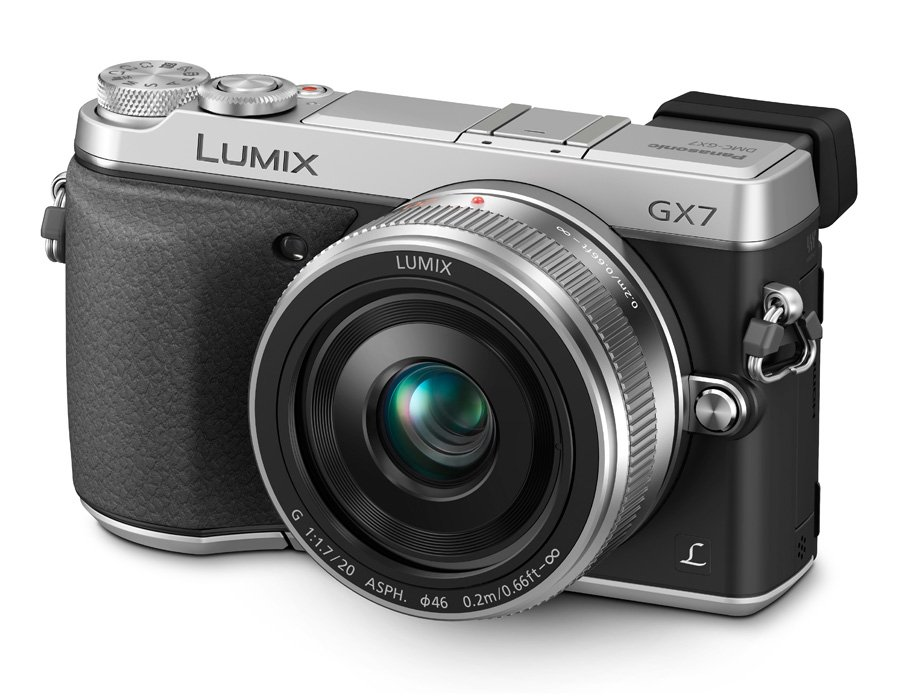 PANASONIC Lumix DMC-GX7 + 20mm stříbrný