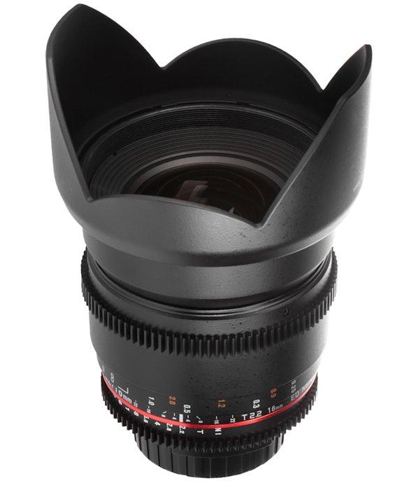 SAMYANG 16 mm T2,2 VDSLR ED AS UMC CS II pro Canon EF (APS-C)