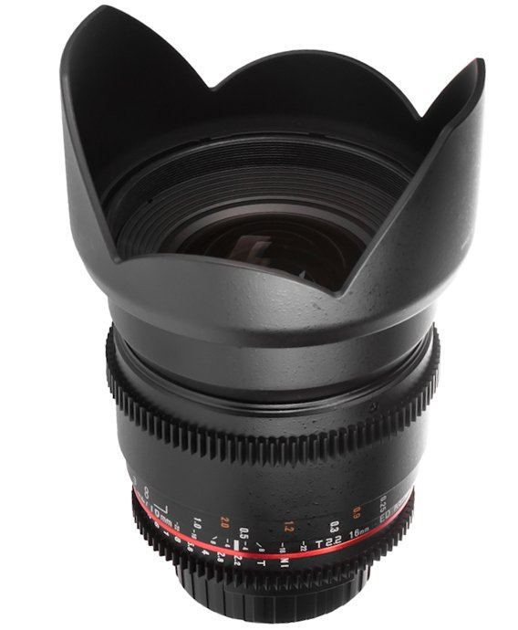 SAMYANG 16 mm T2,2 VDSLR ED AS UMC CS II pro Nikon F (APS-C)
