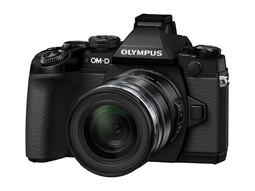 OLYMPUS E-M1 černý + 12-50mm kit