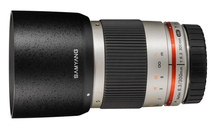 SAMYANG 300 mm f/6,3 ED UMC CS Reflex pro Canon EOS M stříbrný