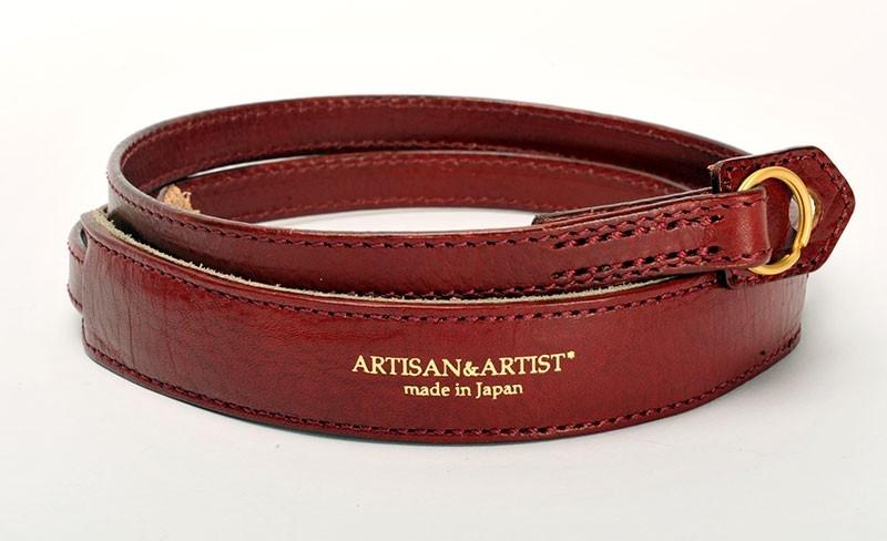 ARTISAN&ARTIST řemínek kožený ACAM-255 bordó