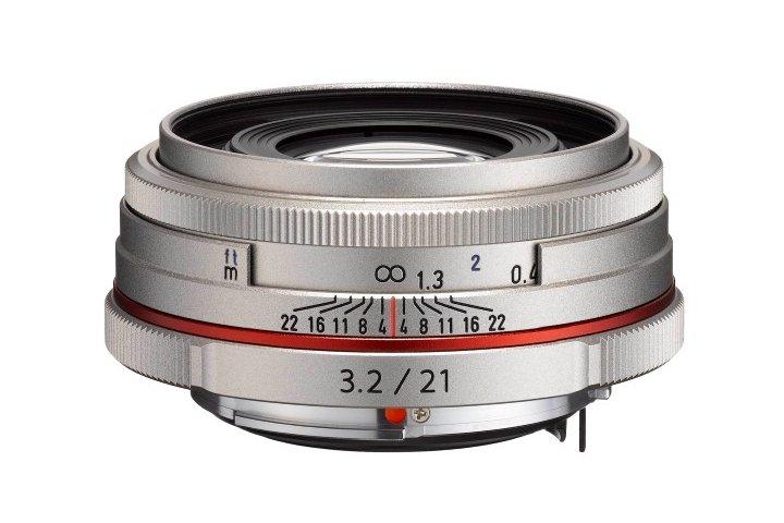 PENTAX 21 mm f/3,2 HD DA ED AL Ltd. stříbrný