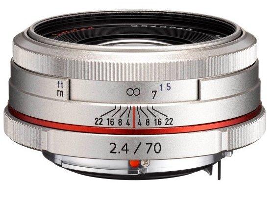 PENTAX 70 mm f/2,4 HD DA Ltd. stříbrný