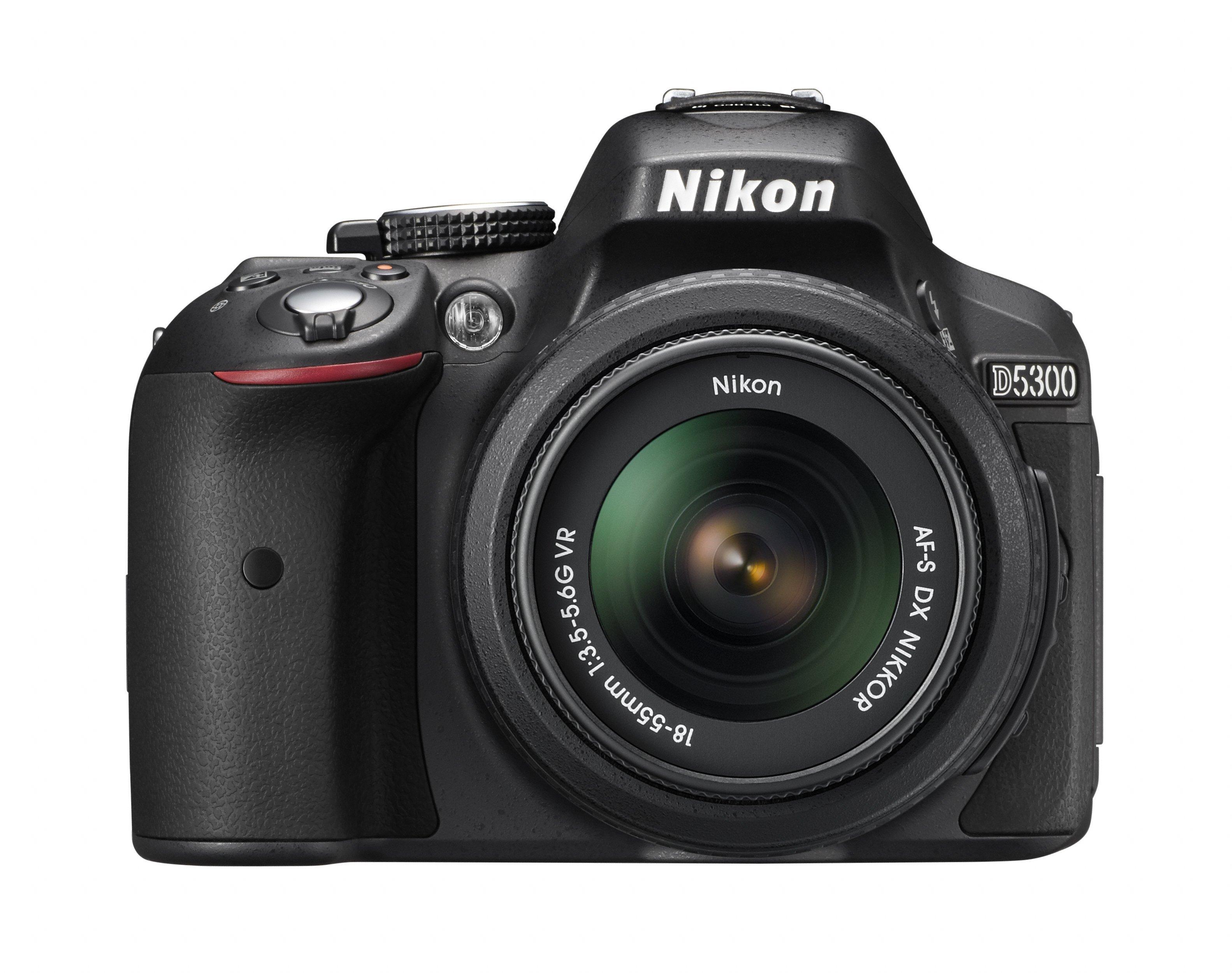 NIKON D5300 černý + 18-55 mm VR + Brašna Nikon Zdarma
