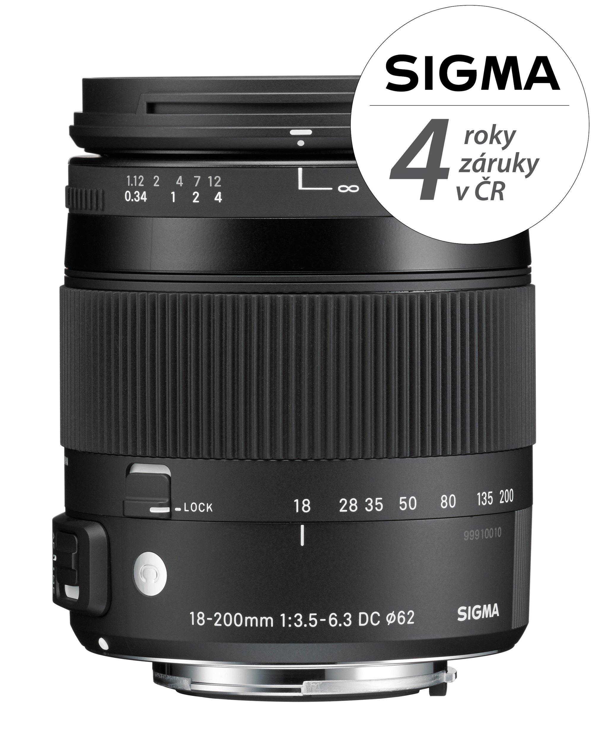 SIGMA 18-200 mm f/3,5-6,3 DC OS HSM Contemporary pro Nikon F