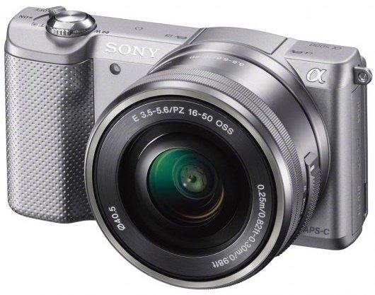 SONY Alpha A5000 stříbrný + 16-50 mm + okamžitá sleva 1000Kč