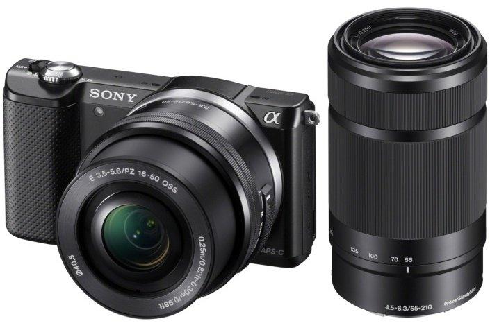 SONY Alpha A5000 černý + 16-50 mm + 55-210 mm