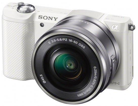 SONY Alpha A5000 bílý + 16-50 mm