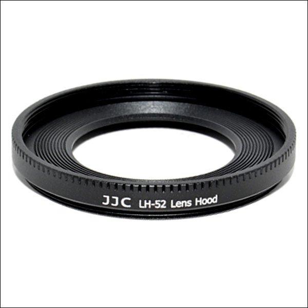 JJC sluneční clona ES-52/LH-52 pro Canon 40/2,8 STM,EF-S 24/2,8 STM a EF-M 18-55