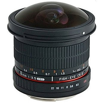 SAMYANG 8 mm f/3,5 UMC Fish-eye CS II pro Pentax (APS-C)
