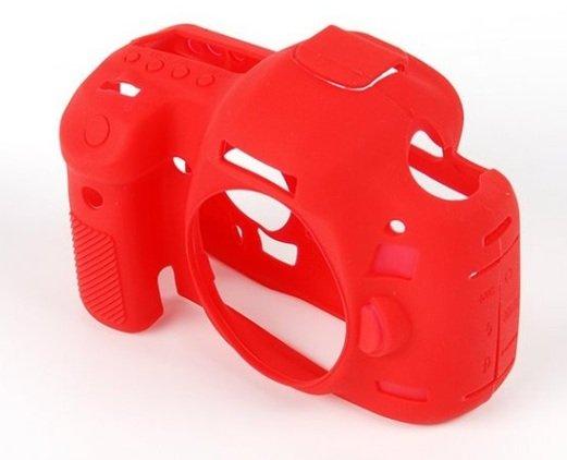 EASYCOVER silikonové pouzdro pro Canon EOS 1200D červené