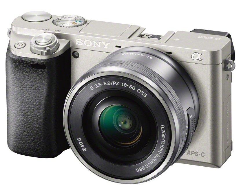 SONY Alpha A6000 stříbrný + 16-50 mm + 50 mm