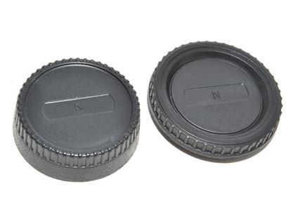 JJC set krytek pro Nikon F ( tělo + zadní objektiv )
