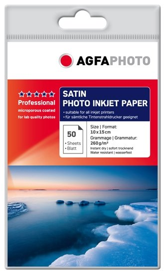 AGFA inkjet 260g Satin Professional 10x15/50