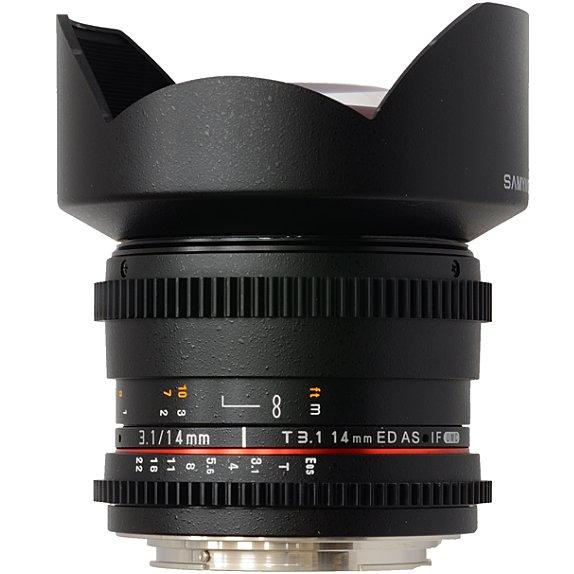 SAMYANG 14 mm T3,1 VDSLR ED AS IF UMC II pro Canon EOS M