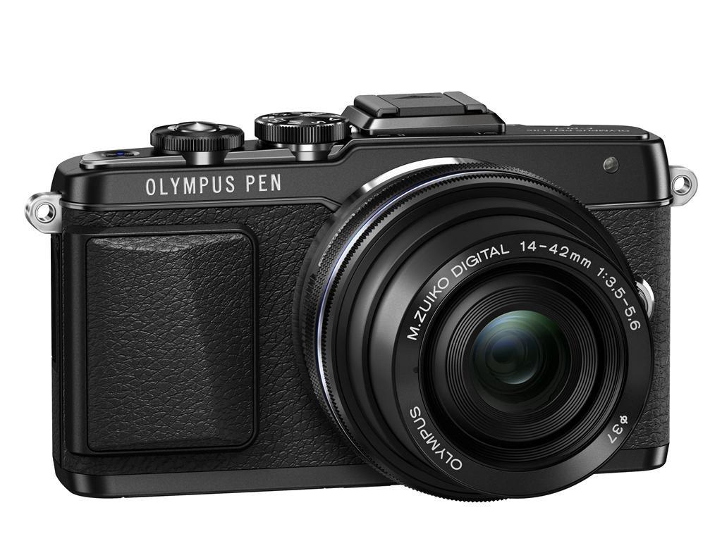 OLYMPUS E-PL7 černý + 14-42 mm EZ černý + popruh a pozdro Olympus zdarma