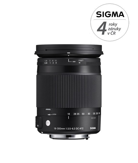 SIGMA 18-300 mm f/3,5-6,3 DC OS HSM Contemporary pro Canon