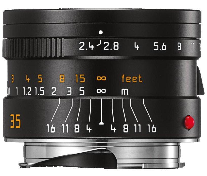 LEICA M 35 mm f/2,4 Asph. Summarit-M černý elox