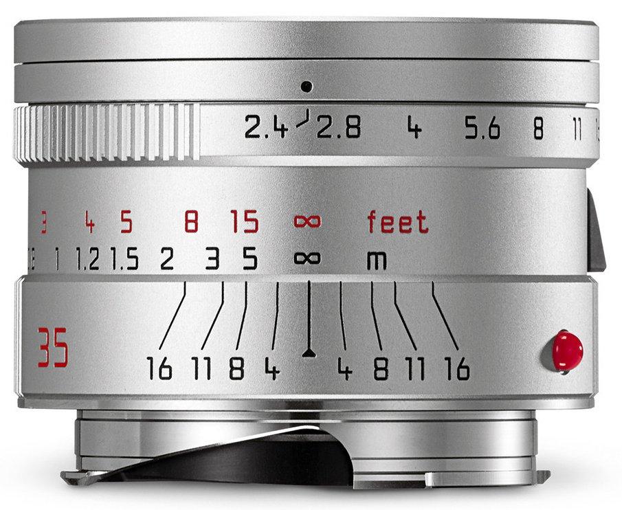 LEICA M 35 mm f/2,4 Asph. Summarit-M stříbrný elox