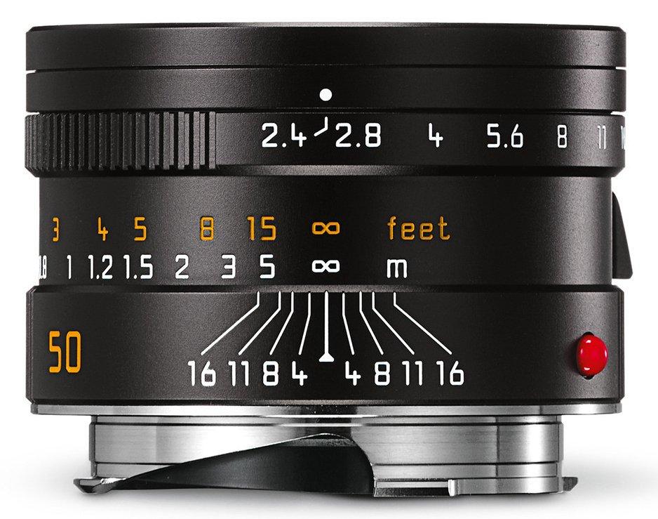 LEICA M 50 mm f/2,4 Summarit-M černý elox