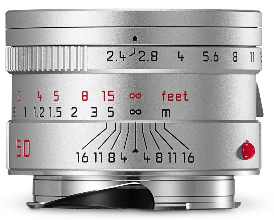 LEICA M 50 mm f/2,4 Summarit-M stříbrný elox