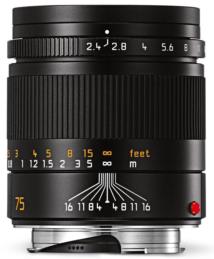LEICA M 75 mm f/2,4 Summarit-M černý elox