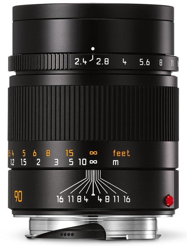 LEICA M 90 mm f/2,4 Summarit-M černý elox