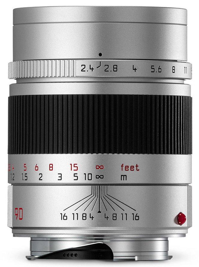 LEICA M 90 mm f/2,4 Summarit-M stříbrný elox