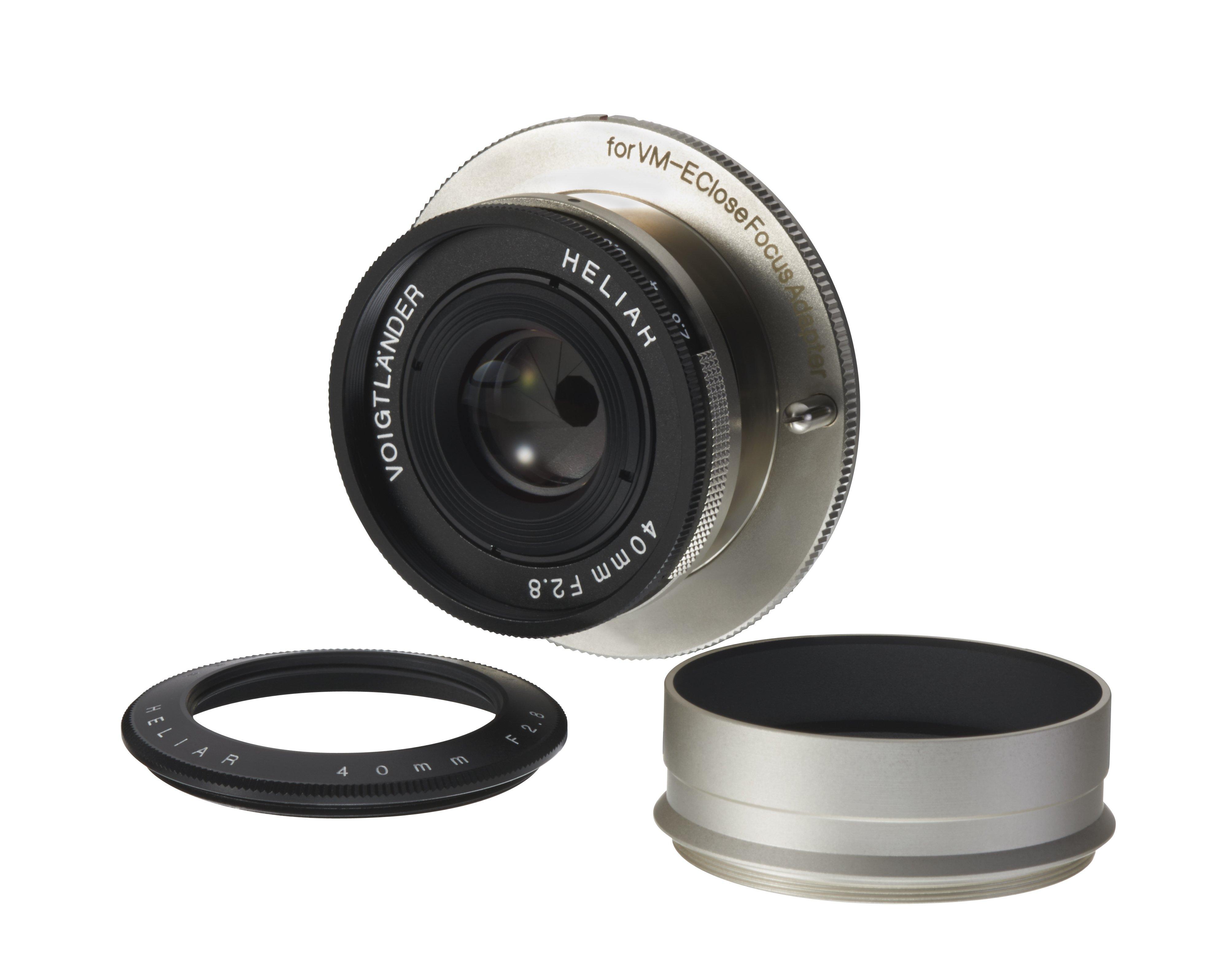 VOIGTLÄNDER 40 mm f/2,8 Heliar M-bajonet (pro Close Focus adaptér na Sony E)