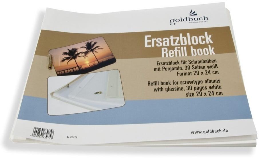 GOLDBUCH náhradní listy 29x24, bílé