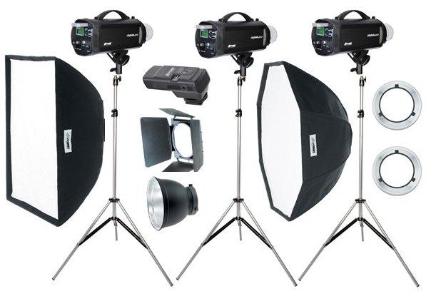 FOMEI Digitalis Pro 400/400/200 kit studiových blesků