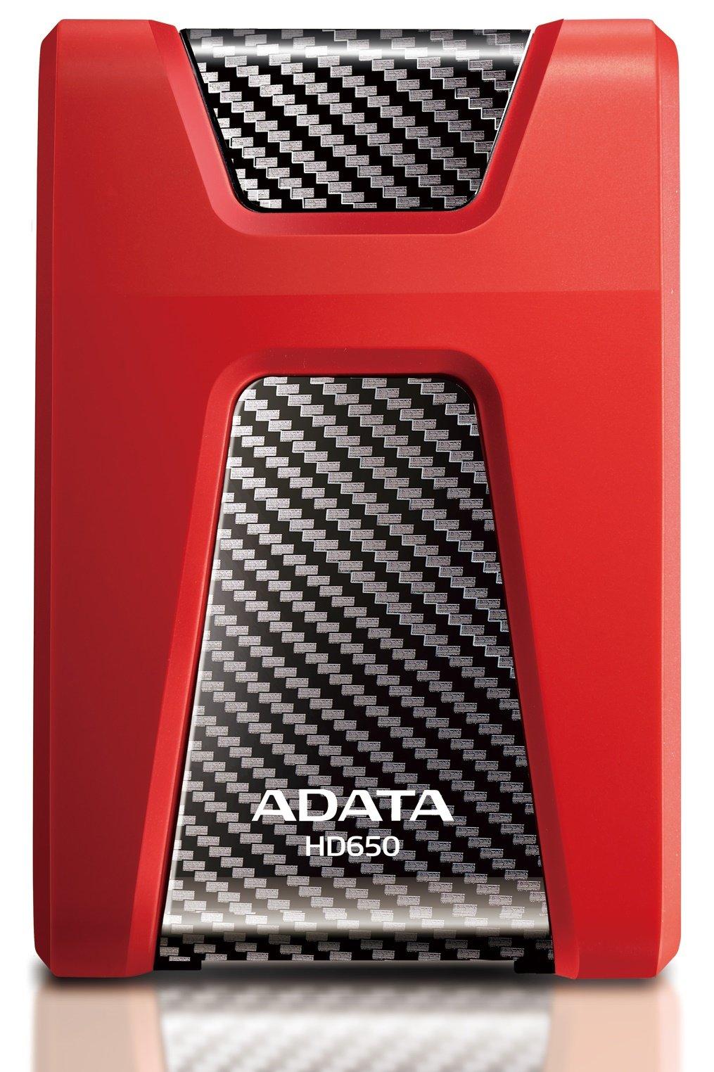 ADATA HD650 HDD externí disk 1TB USB 3.0 červený
