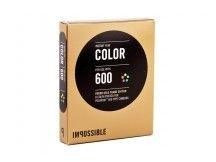 IMPOSSIBLE barevný film pro Polaroid 600/8ks Round Gold Frame