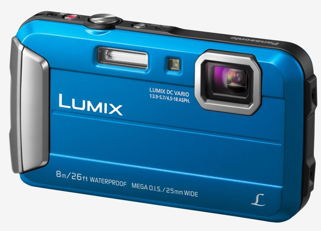 PANASONIC Lumix DMC-FT30 modrý + SDHC 8GB