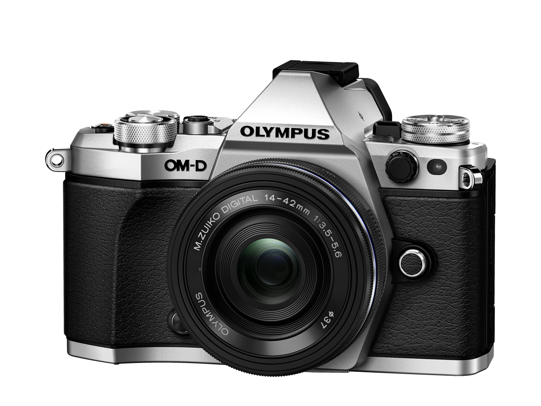 OLYMPUS E-M5 MARK II stříbrný + 14-42 EZ černý