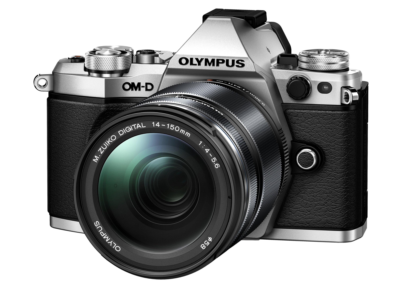 OLYMPUS E-M5 Mark II stříbrný +14-150 II černý