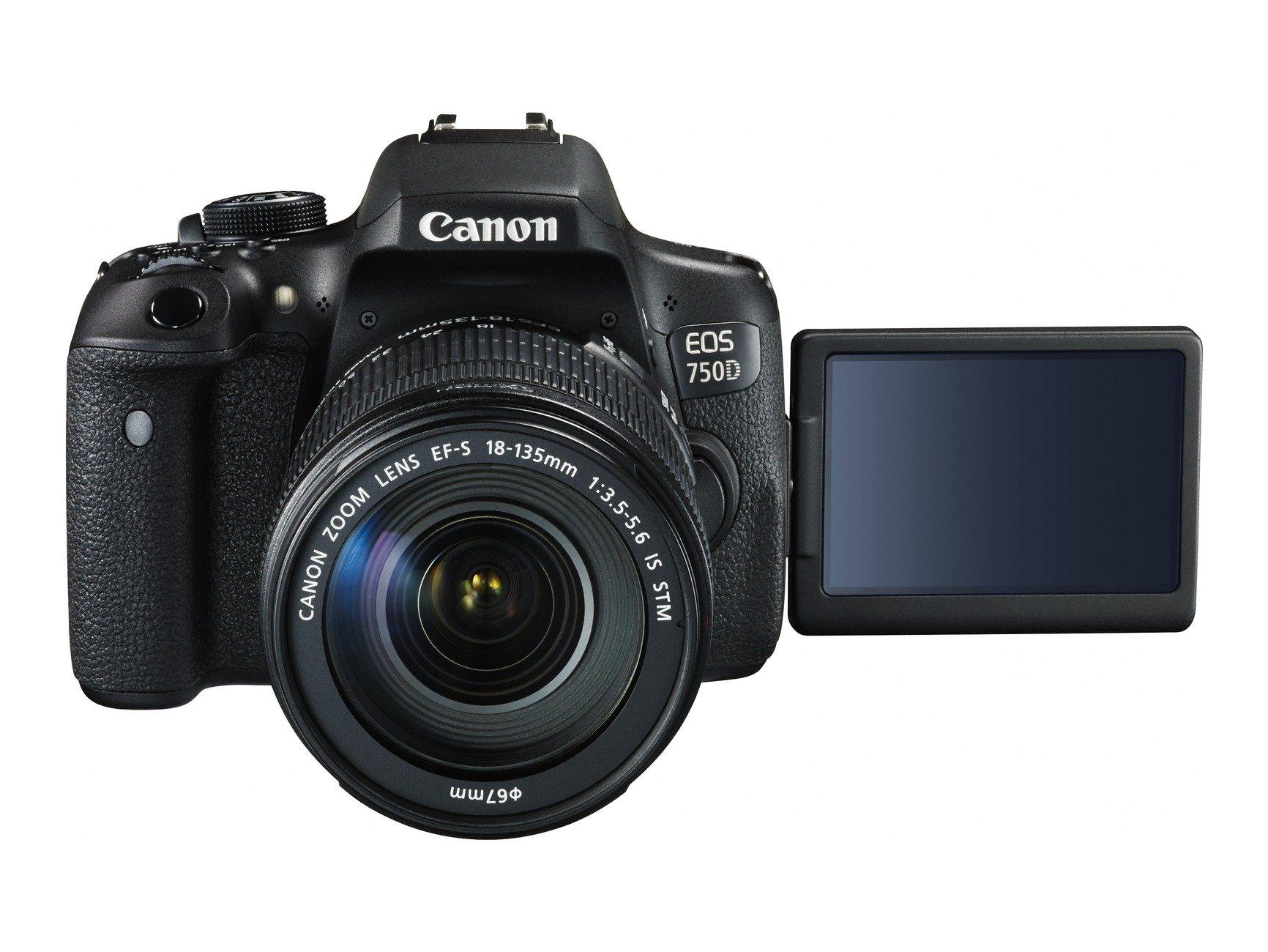 CANON EOS 750D +18-135 mm IS STM + Cashback 1300 Kč