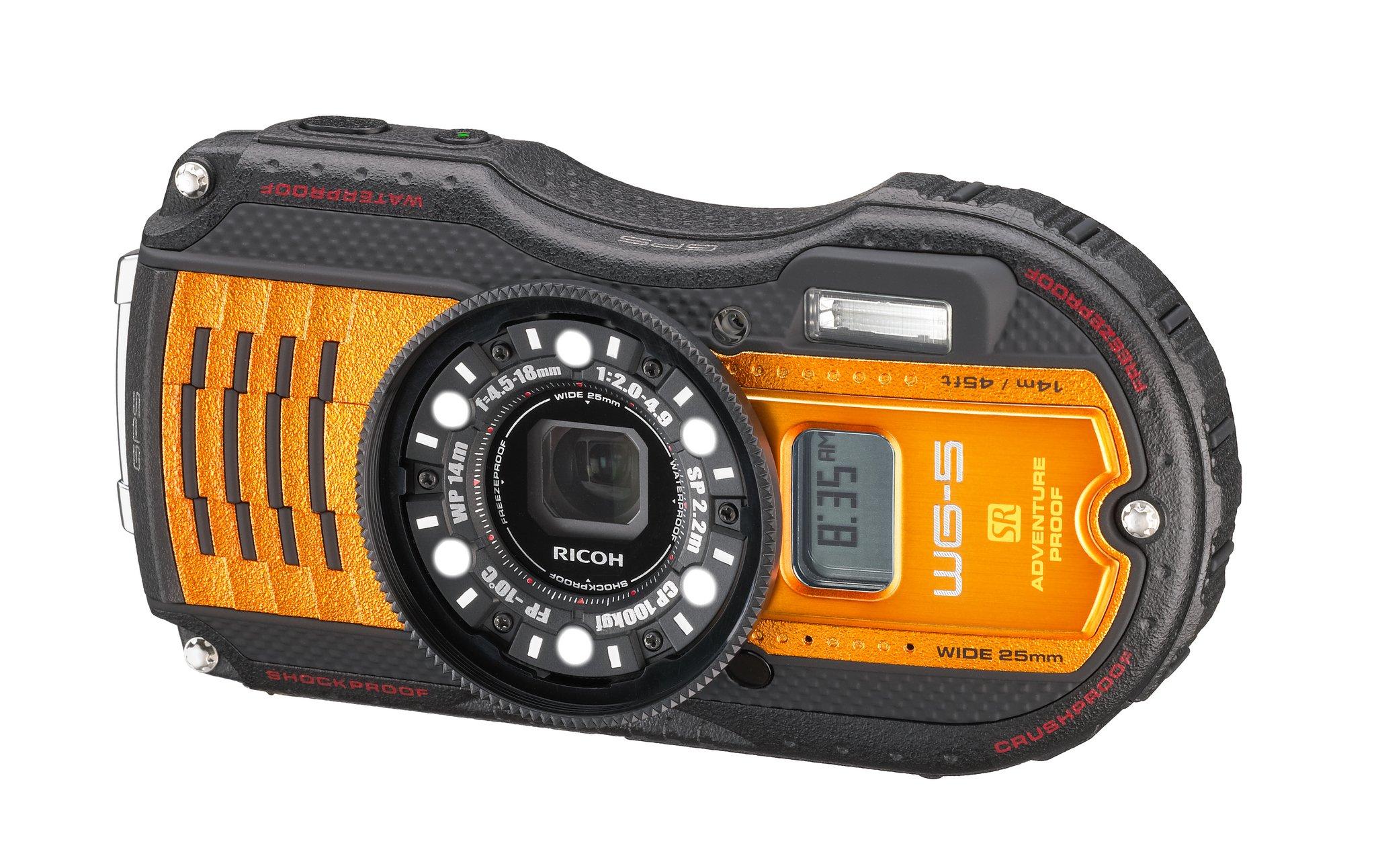 RICOH WG-5 GPS oranžový