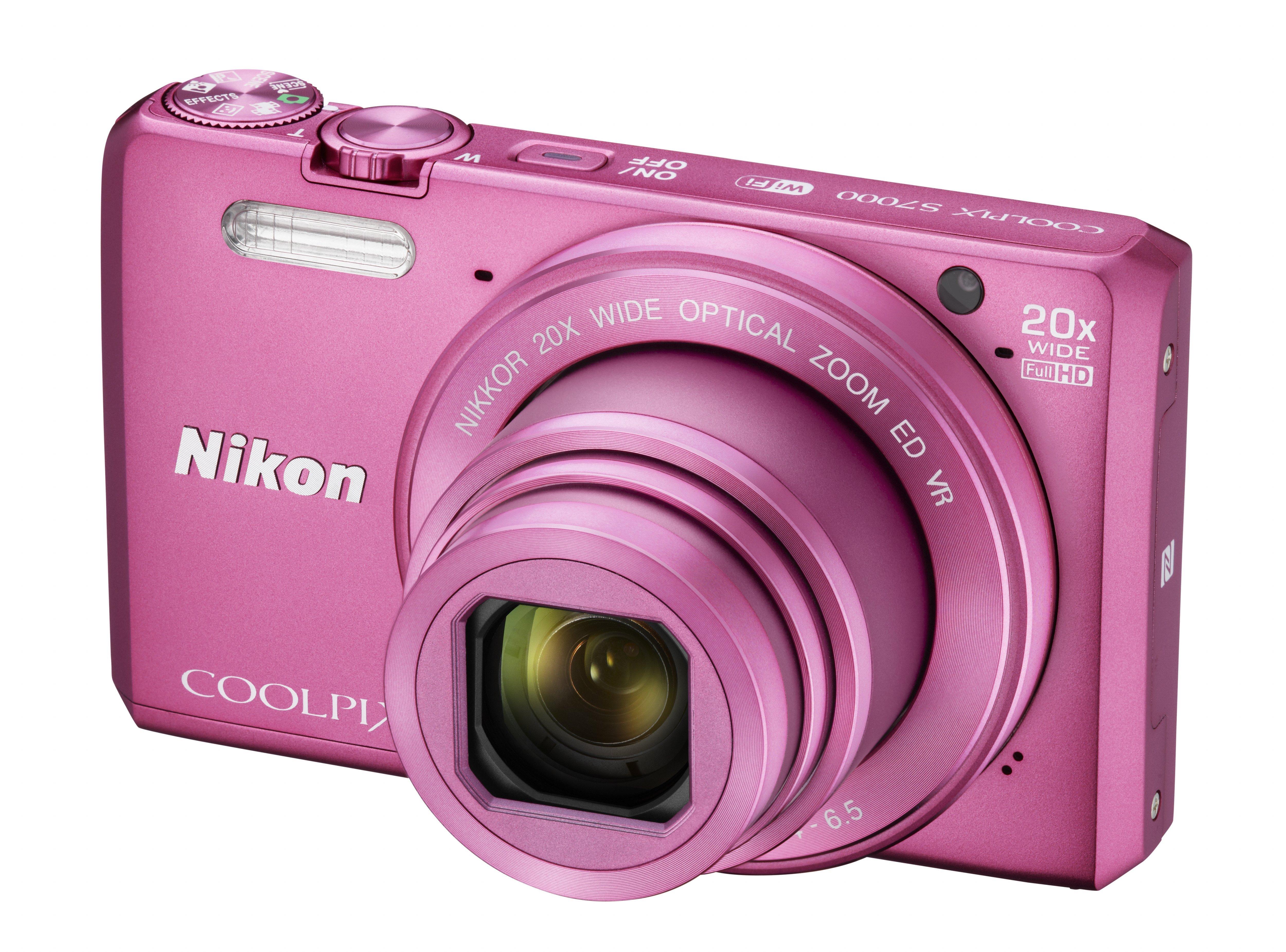 NIKON COOLPIX S7000 růžový + SDHC 8 GB + originální pouzdro zdarma