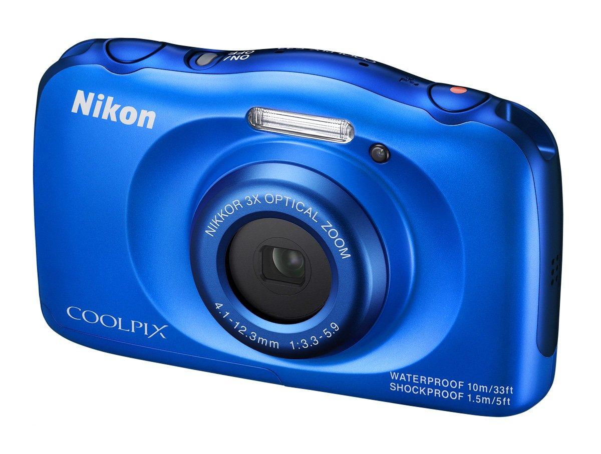 NIKON COOLPIX S33 modrý - backpack kit + SDHC 8 GB zdarma