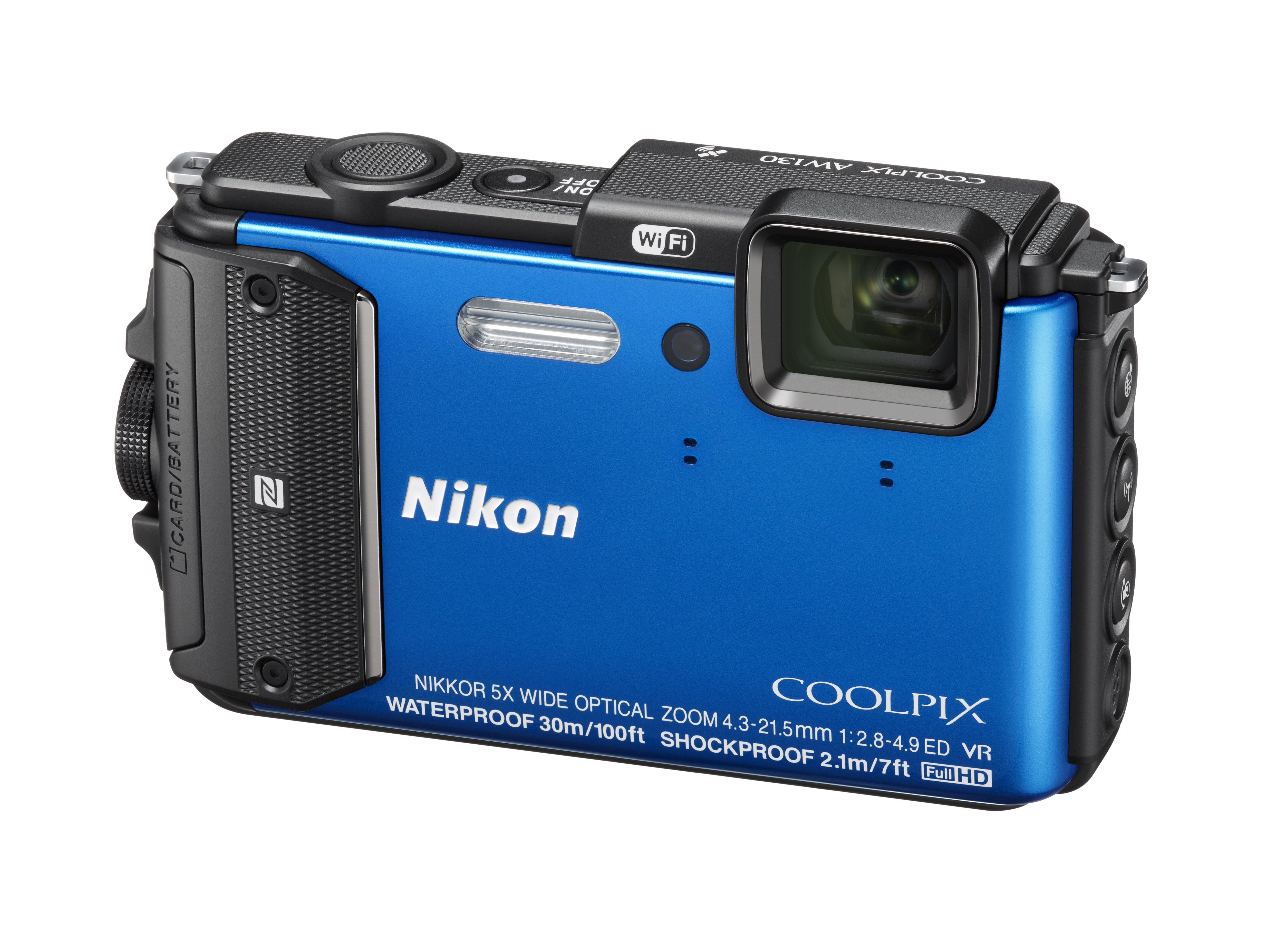 NIKON COOLPIX AW130 modrý + SDHC 16 GB