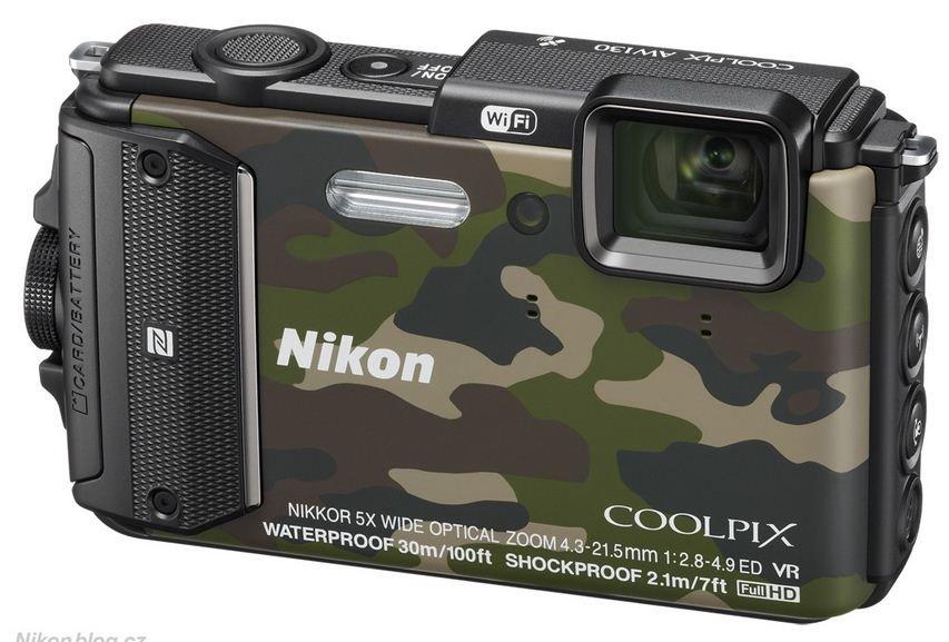 NIKON COOLPIX AW130 maskáčový + SDHC 16 GB