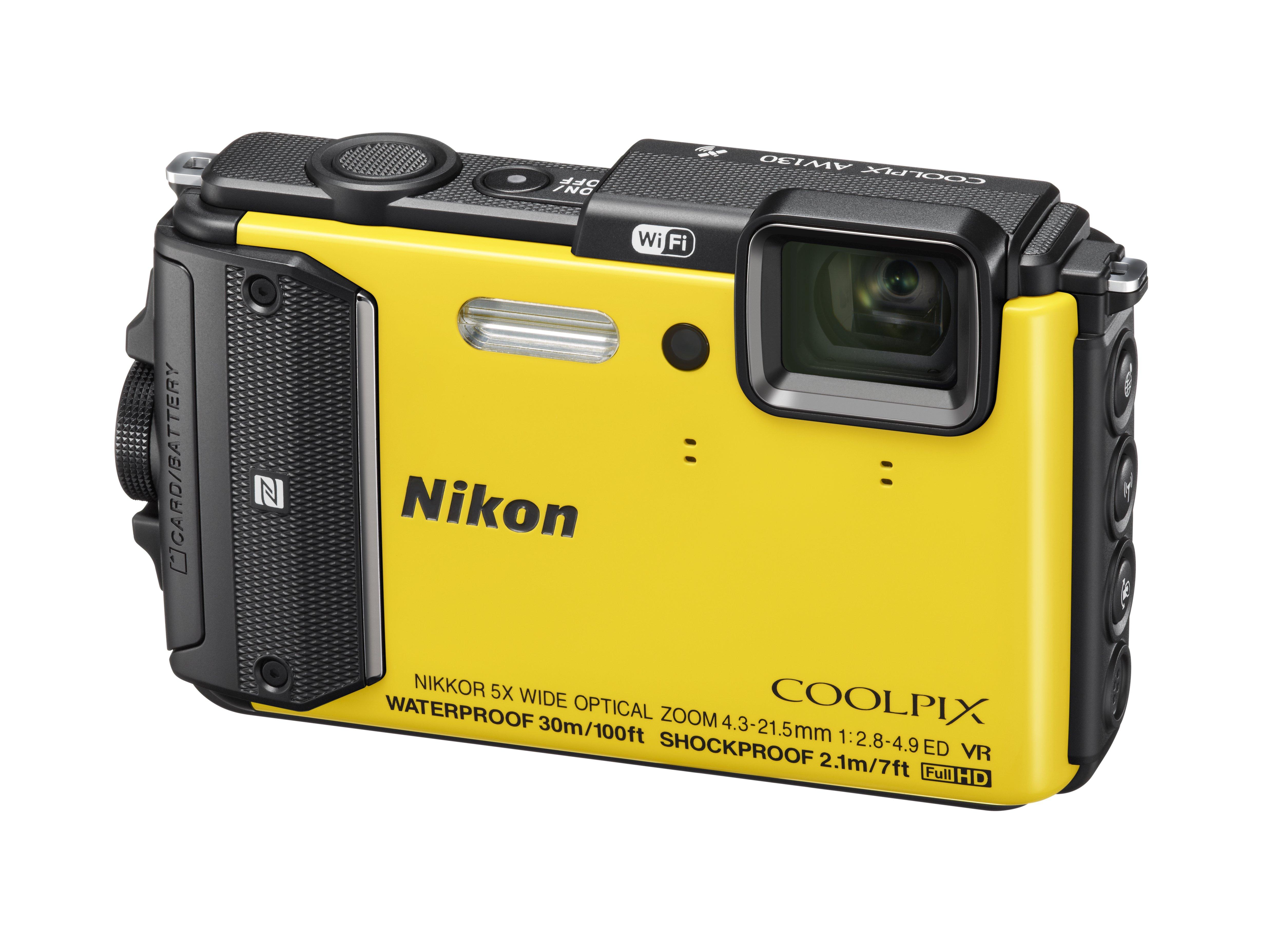 NIKON COOLPIX AW130 žlutý + SDHC 16 GB
