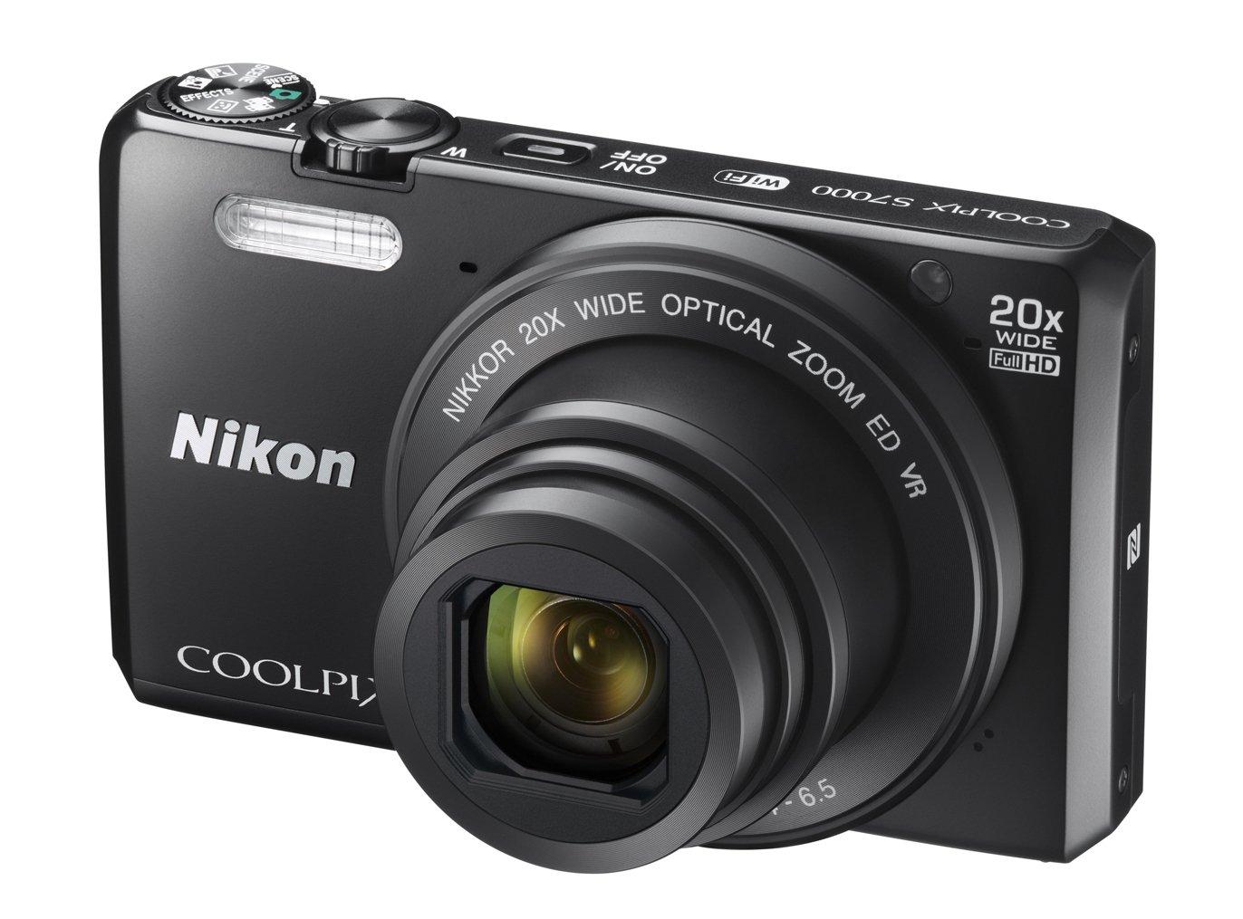 NIKON COOLPIX S7000 černý + SDHC 8 GB + originální pouzdro zdarma