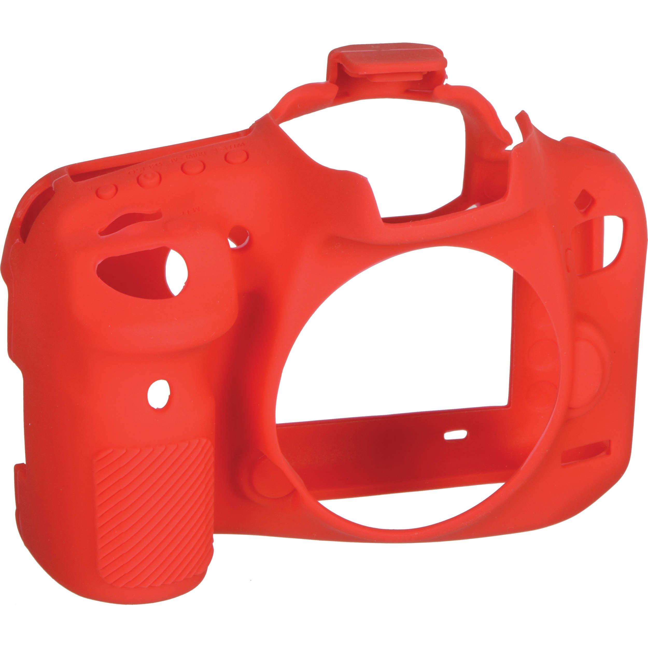 EASYCOVER silikonové pouzdro pro Canon EOS 7D Mark II červené