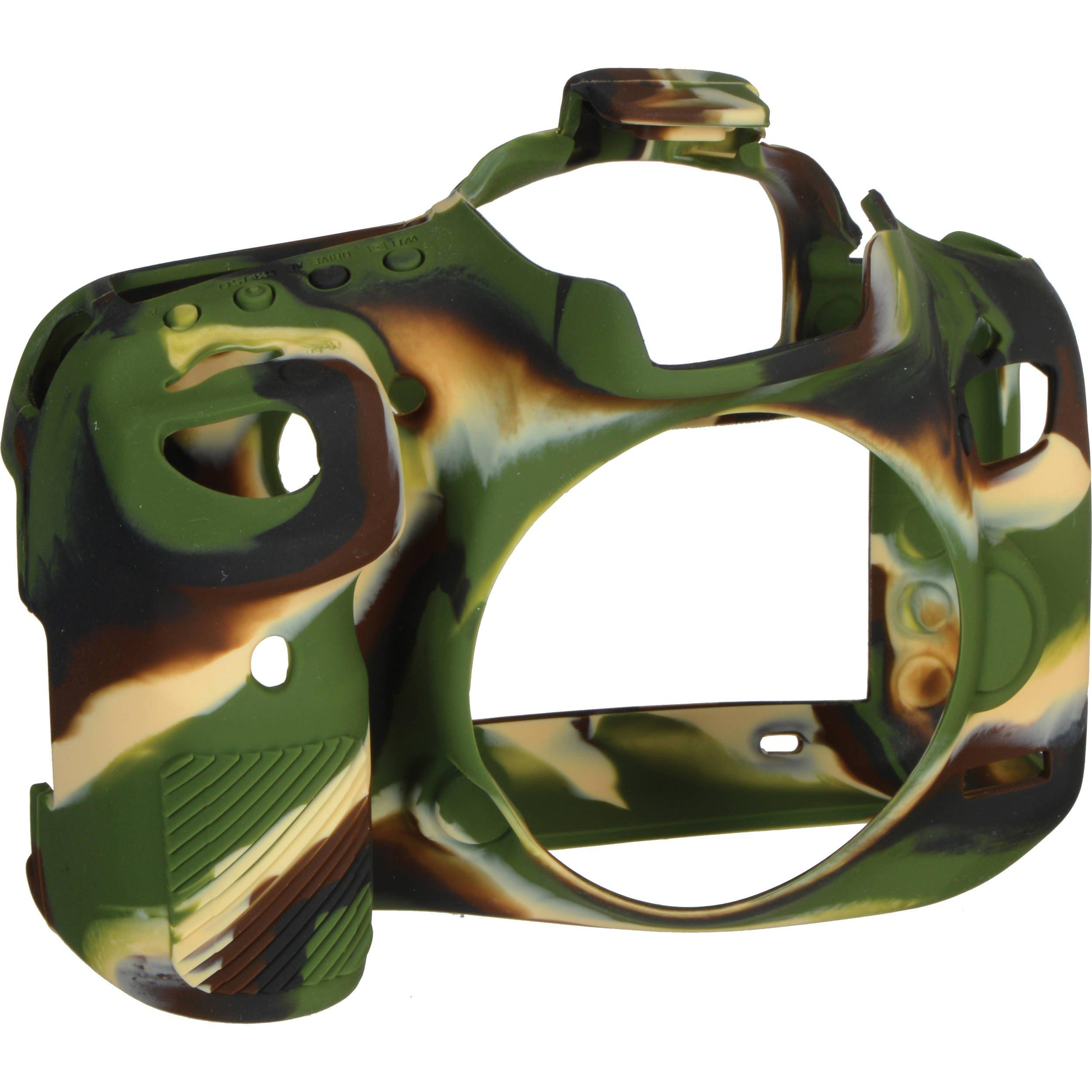 EASYCOVER silikonové pouzdro pro Canon EOS 7D Mark II camouflage