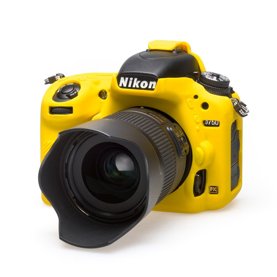 EASYCOVER silikonové pouzdro pro Nikon D750 žluté