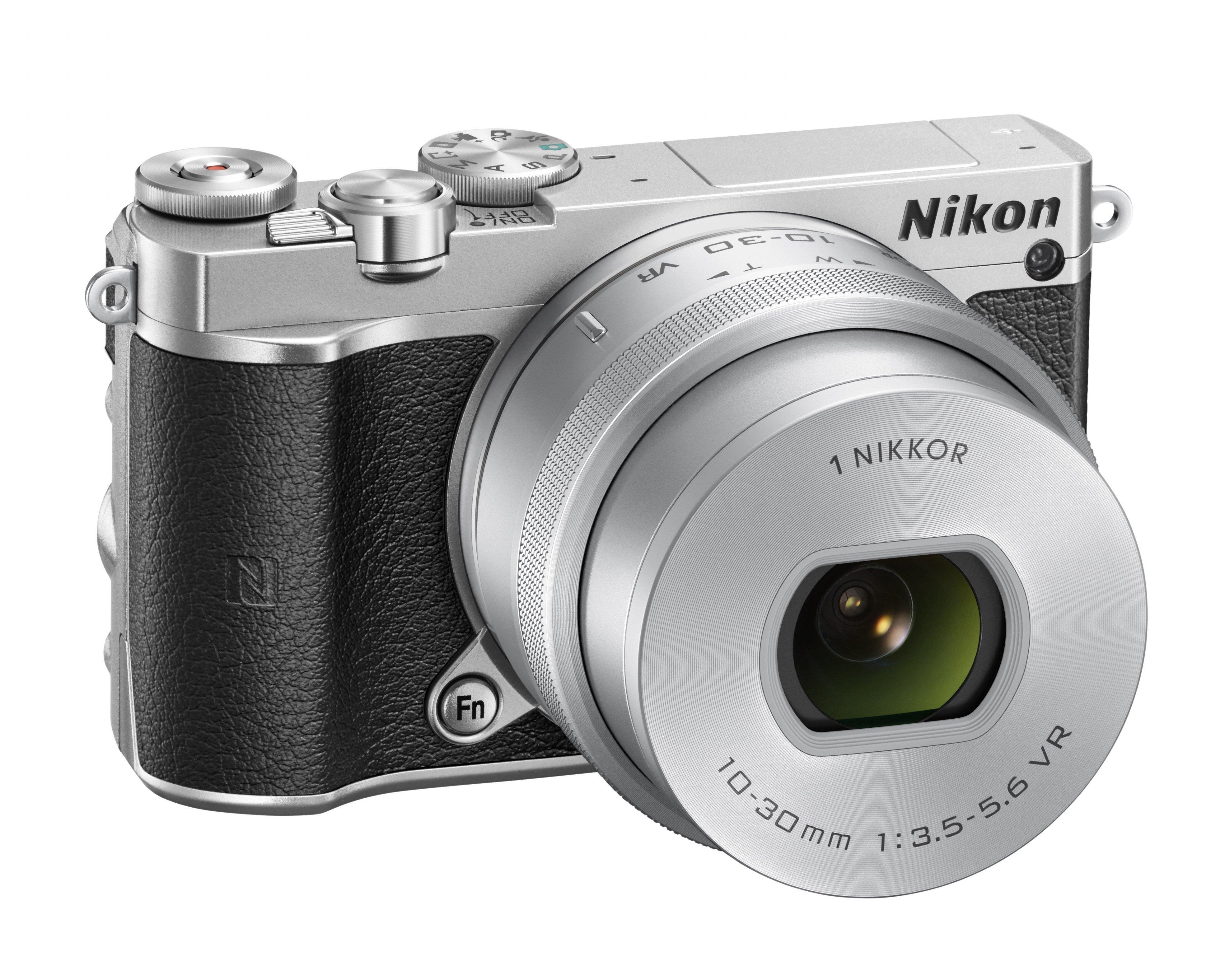 NIKON 1 J5 stříbrný + 10-30 mm VR PD-ZOOM